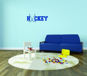 Design with Vinyl Moti 2213 3 Decal - Peel & Stick Wall Sticker : Hockey Text Lettering Sports Girl Boy Colour