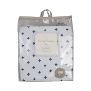 Living Textiles Jersey Fitted Sheet, Starry Night