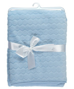 "Baby Dove ""Embossed Velour"" Blanket - blue, one size"