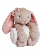 Cuddly Rabbit Stuffed Animal Blanket Gift Set