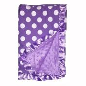 BayB Brand Blanket - Purple Polka Dot