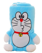 Sunvinas Cute Cat Cartoon Flannel baby blanket Soft kids wrapping