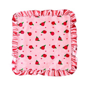 Max Daniel Peach Blossom Security Blanket- Peach Blossom Front and Satin back with Coral Satin Ruffle