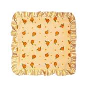 Max Daniel Lemon Blossom Security Blanket- Lemon Blossom Front- Satin Back with Butter Ruffle