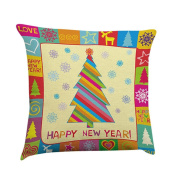 Pillow Case,Dirance(TM) Home Decor Colourful Christmas Pillow Cover sentiment Pillowcases Embroidered Cushioncase