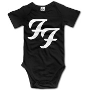 Baby Onesies Foo Fighters Rock Band Classic Logo Cool Baby Bodysuit