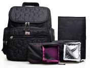 Abonnylv Travel Backpack Nappy Bag New fabrics Anti-theft design Tote Handbag Purse(Black)