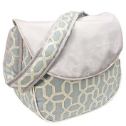 Hoohobbers Messenger Nappy Bag, Pebbles Sky Blue