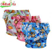 Ohbabyka 3PCS Pack Baby Training Pants,baby nappies waterproof,1-3Years old