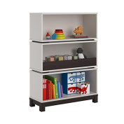 Cosco Kids Furniture Leni Storage Bookcase, White and Coffee House Plank