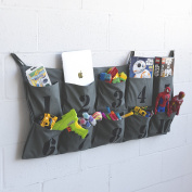 Tasca Canvas Hanging Wall Organiser with 10 Number Printed Pockets , Organisational Kid's Room Storage for Ipad , Books , Toys , Kid's Clothing , Nappies and Many More