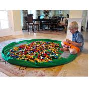 150cm Diameter Baby Kids Play Floor Mat Toy Storage Bag Organiser Green