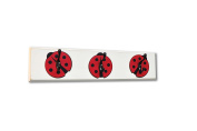 Ladybug Wall Hook Board, red