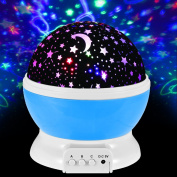 TySony 360 Degree Constellation Night Light projector lamps for Kids boys Romantic Cosmos Star Sky Moon Baby Nursery Light Christmas Gifts