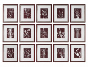 Abstract Marsala Floral Prints, S/15