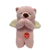 Angel Musical Prayer Bear Pink - Spanish - Padre Nuestro Prayer
