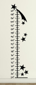 Growth Chart Stars Wall Decals Stickers, Black, 38cm