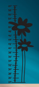 Growth Chart Flowers Wall Decals Stickers, Black, 38cm