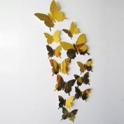 Wall Sticker,SMTSMT Decal Butterflies 3D Mirror Wall Art