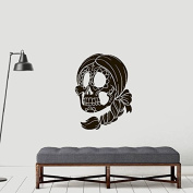 vinyl wall decal sticker Sugar Scull Horror Girl Mexican Tattoo face a145