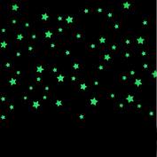 Wall Sticker,SMTSMT 100PC Kids Bedroom Beautiful Fluorescent Glow In The Dark Stars Wall