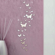 Wall Sticker,SMTSMT 30PC Butterfly Combination 3D Mirror Wall Stickers