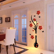 Wall Sticker,SMTSMT Flower Tree Crystal Arcylic 3D Wall Stickers