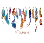 Wall Sticker,SMTSMT Classic Creative Dream Catcher Feather Wall Sticker