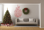 Merry Christmas Quote Ball - Mural Wall Decal Sticker For Home Room Door Car Laptop