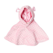 My Blankee Minky Dot Hooded Cape, Pink, 6-12 Months