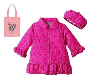 Al & Ray Butterfly Coat & Hat Set & Tote - 3 Piece Gift Set