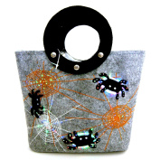 "MWW ""Lights Up"" Halloween LED Lighted Handmade Wool Felt Handbag"