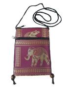 BTP Hmong Bag Hill Tribal Elephant Mini Crossbody Single Shoulder Bag Cellphone Case Passport Holder & Travel Pouch