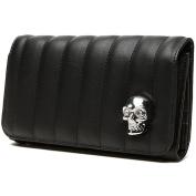 Lux de Ville Lady Vamp Collection Wallet Matte Black with Skull