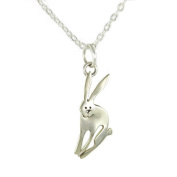 Bunny Rabbit Pendant Necklace Far Fetched Handmade 46cm Chain