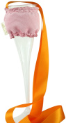 """CHC-Beverly Hills ROSE, High End Champagne Necklace Holders """"Set of 5.1cm Pink Faux Suede and Orange Ribbon"""
