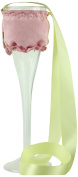 """CHC-Beverly Hills ROSE, High End Champagne Necklace Holders """"Set of 5.1cm Pink Faux Suede and Yellow Ribbon"""