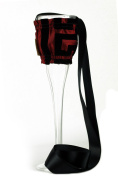 """CHC-Beverly Hills GREECE, High End Champagne Necklace Holders """"Set of 5.1cm Burgundy and Black Ribbon"""