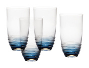 Mikasa Swirl Cobalt Highball Glass (Set of 4), 590ml