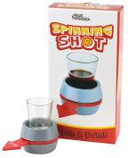 Fairly Odd Novelties Spin-The-Shot Spinning Shot Glass Drinking Novelty Game, Grey