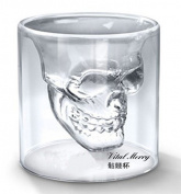 Generic Skull4b Fred and Friends Doomed Crystal Skull Shotglass (Set of 4), Transparent