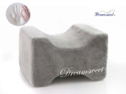 TWO Knee Hip Alignment Memory Foam Leg Pillow for Side Sleepers, Grey - by Dreamsweet