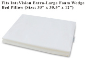 InteVision 400 Thread Count, 100% Egyptian Cotton Pillowcase. Designed to Fit the InteVision Extra-Large Foam Wedge Bed Pillow