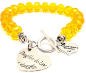 Daughter-In-Law Crystal Toggle Bracelet in Lemon Yellow