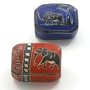 Kenya Soapstone Box - Domed Rectangle - Various Colours