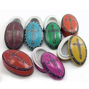 Kenya Soapstone Box - Domed Christian Oval - Various Colours