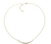 JY Jewellery 20Pcs/lot Smooth Curved Tube Bar Pendant Choker Necklace