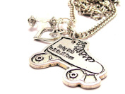Derby Girls Do It On All Fours 46cm Pendent Necklace