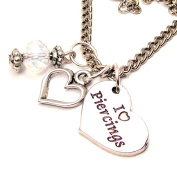 I Love Piercings 46cm Pendent Necklace