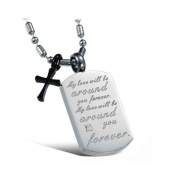 MoAndy Jewellery Titanium Stainless Steel Lovers' Fashion Pendant Necklaces Engraved Letters Tag